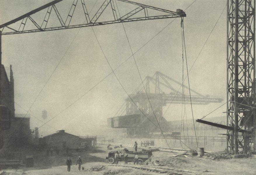 Associate Product CHILE.Oficina Maria-Elena.Nubes polvo envuelven planta.Dust clouds.Plant. 1932