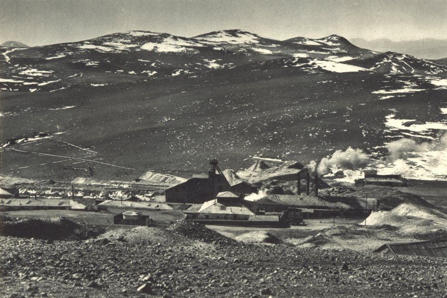 Associate Product CHILE. Collahuasi. Mina Poderosa. Mighty Mine 1932 old vintage print picture