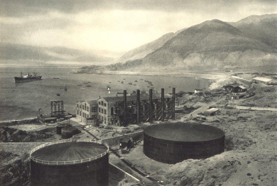Associate Product CHILE.Chañaral.Puerto Barquitos con planta eléctrica Potrerillos.Chanaral 1932