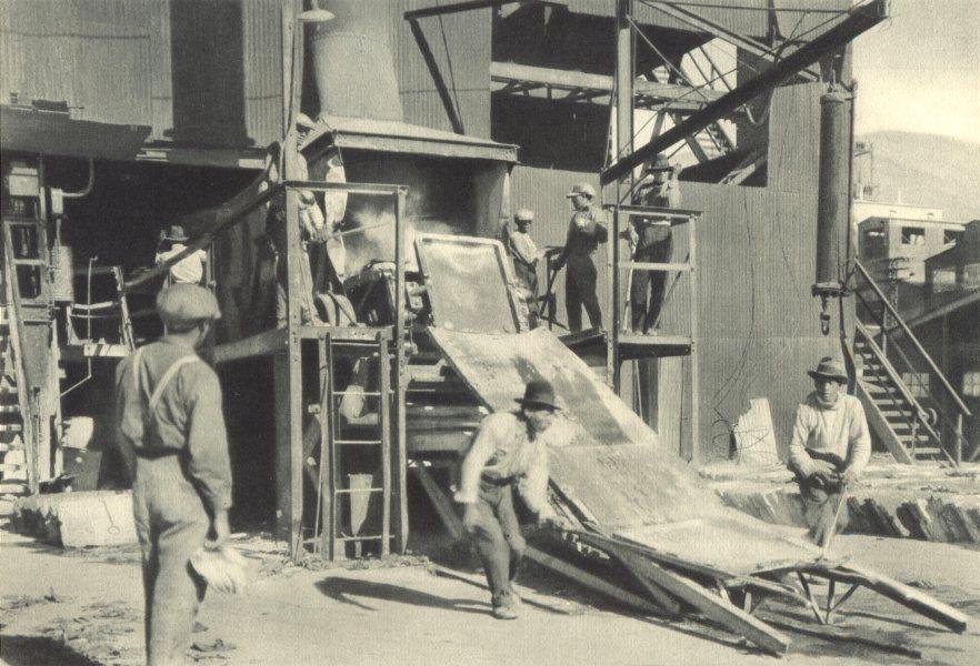 CHILE. Potrerillos. Fundición de placas Electroliticas. Electrolytic plates 1932