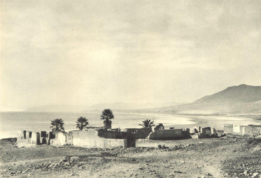 Associate Product CHILE. Huasco. Puerto de Vallenar. Guasco. Port of Vallenar 1932 old print