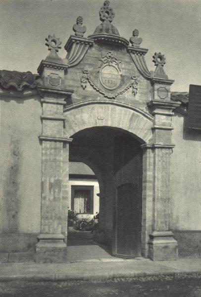Associate Product CHILE. La Serena. Portal de la época colonial. Colonial era gate 1932 print