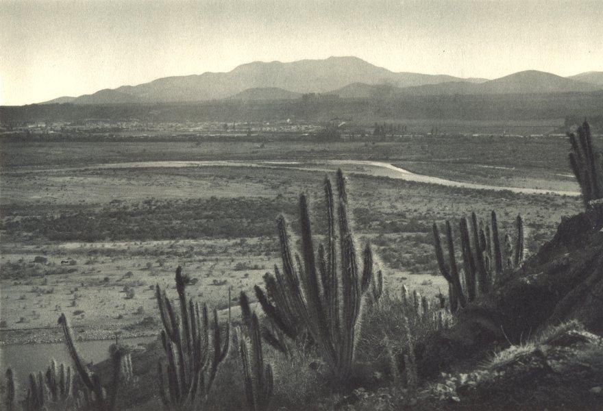Associate Product CHILE. Ovalle. Centro minero a orillas del Rio Limarí. Mining centre 1932