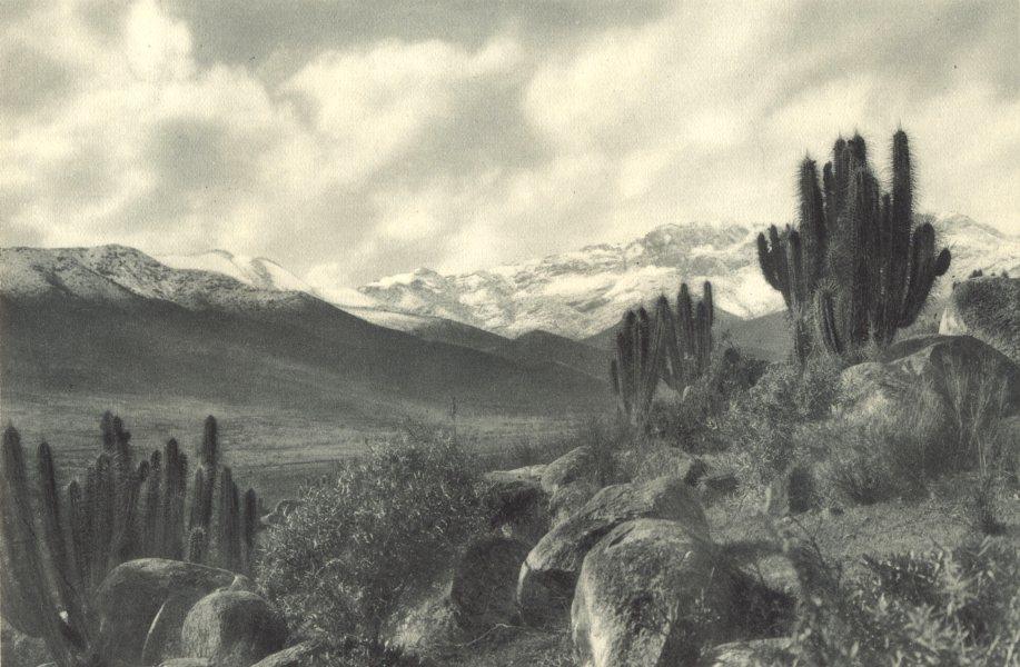 Associate Product CHILE. Chalinga. Paisaje típico de Chile Central. Typical landscape 1932 print
