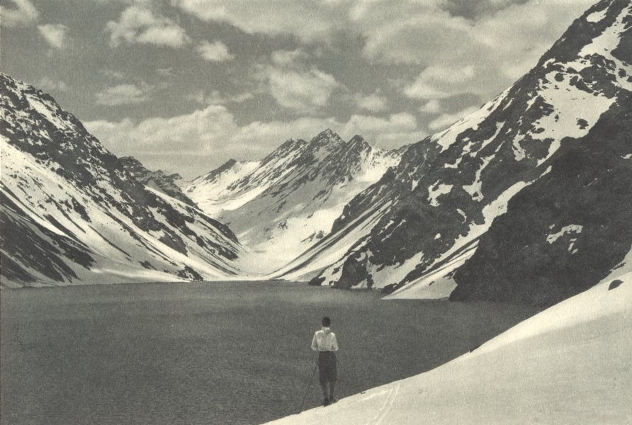 Associate Product CHILE. Laguna del Inca. 1932 old vintage print picture