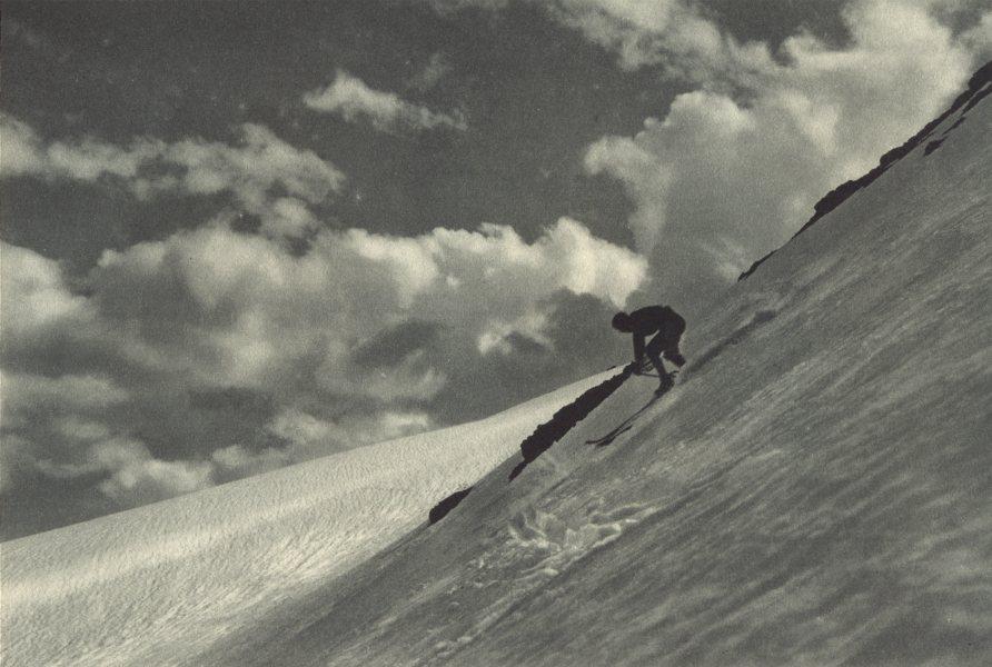 Associate Product CHILE. Campos de ski a Orillas de La Laguna del Inca. Ski slopes 1932 print