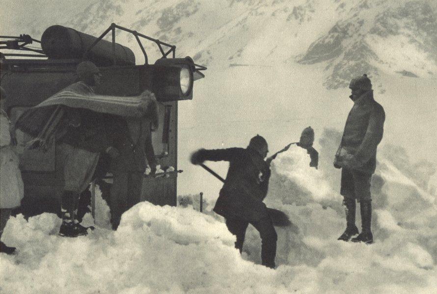 CHILE.Ferrocarril Transandino.Nieve impide el paso tren.Trans-Andean train 1932