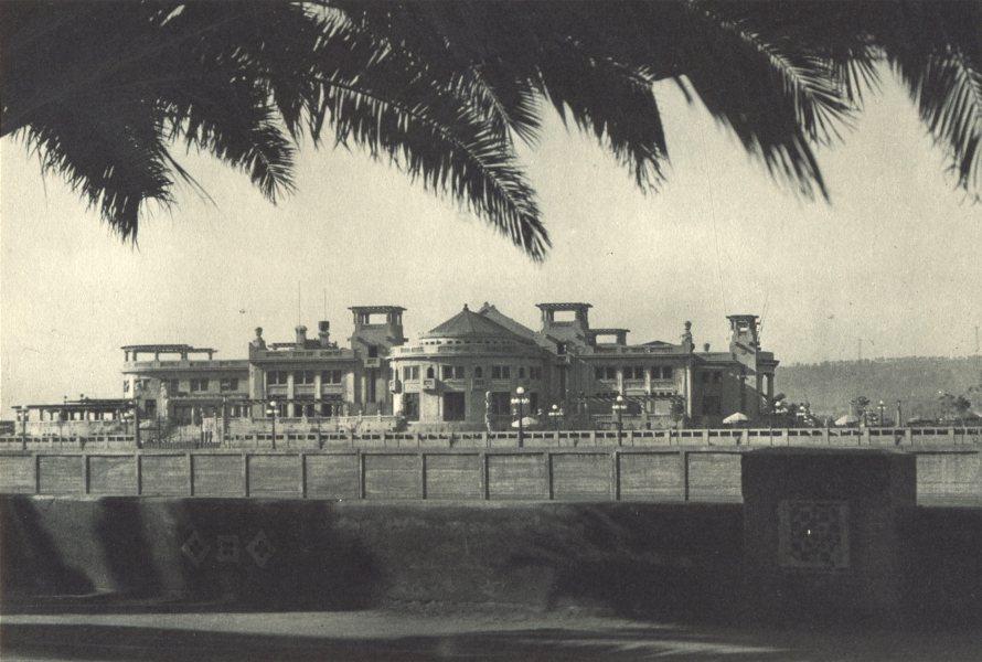 Associate Product CHILE. Viña del Mar. Casino municipal. Vina del Mar. 1932 old vintage print