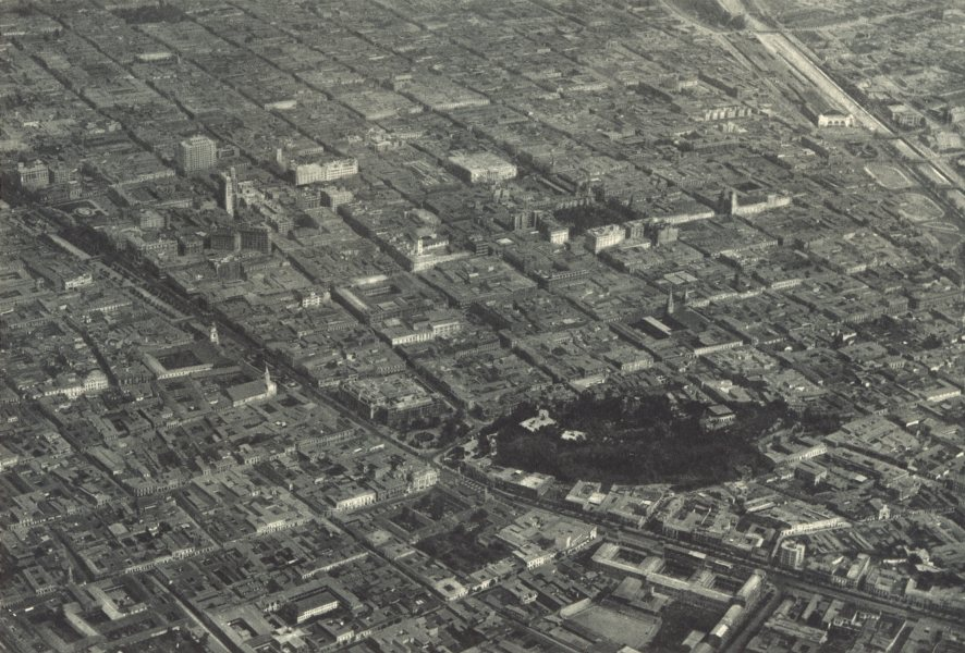 Associate Product CHILE. Santiago. Vista aérea del Centro. Aerial view of the Centre 1932 print