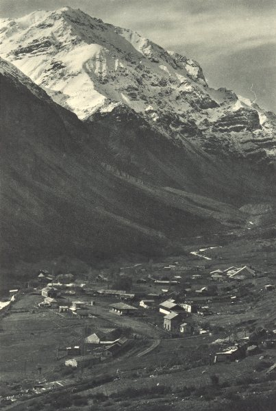 CHILE. El Volcan. The Volcano 1932 old vintage print picture