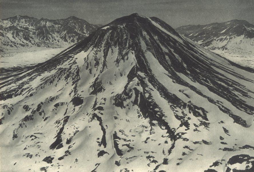 Associate Product CHILE. Volcan San José. Vista aérea del lado Sur. San Jose Volcano 1932 print