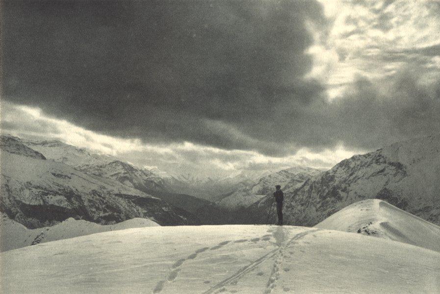 Associate Product CHILE. Las Vegas. Campo ideal para el ski. Skiing 1932 old vintage print