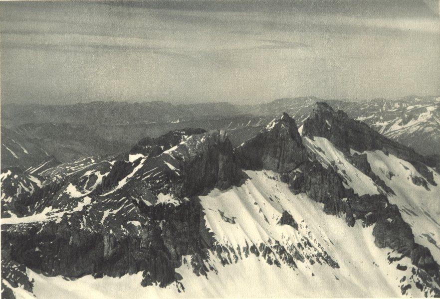 Associate Product CHILE. Valle Rio Maipu. Vista aérea hacia el Valle Central. Maipu Valley 1932