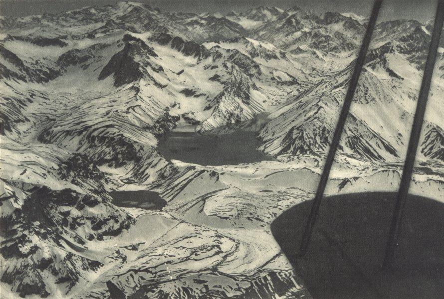 Associate Product CHILE. Laguna Negra. Laguna Encañado con el Cerro Plomo al fondo. 1932 print