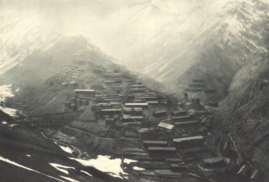 Associate Product CHILE. Mina Teniente. Vista general de la planta y de los campamentos. 1932