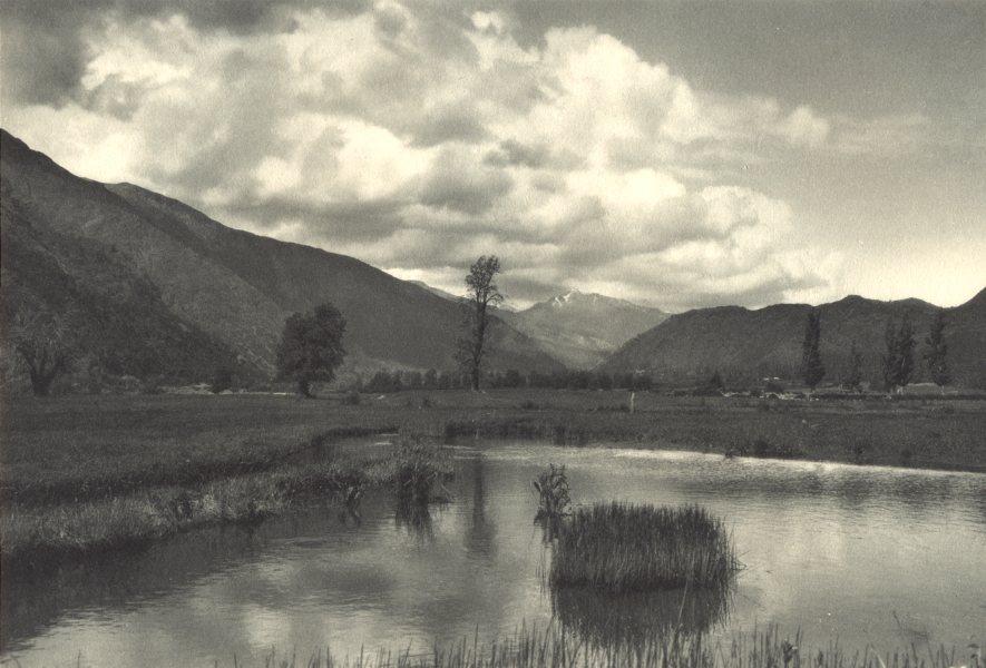 Associate Product CHILE. Curillinco. Valle del Rio Maule. Maule River Valley 1932 old print
