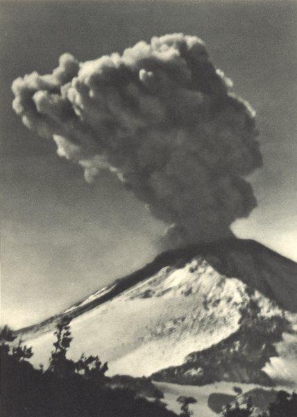 Associate Product CHILE. Volcan Chillan. Erupción. Volcano Chillan erupting 1932 old print