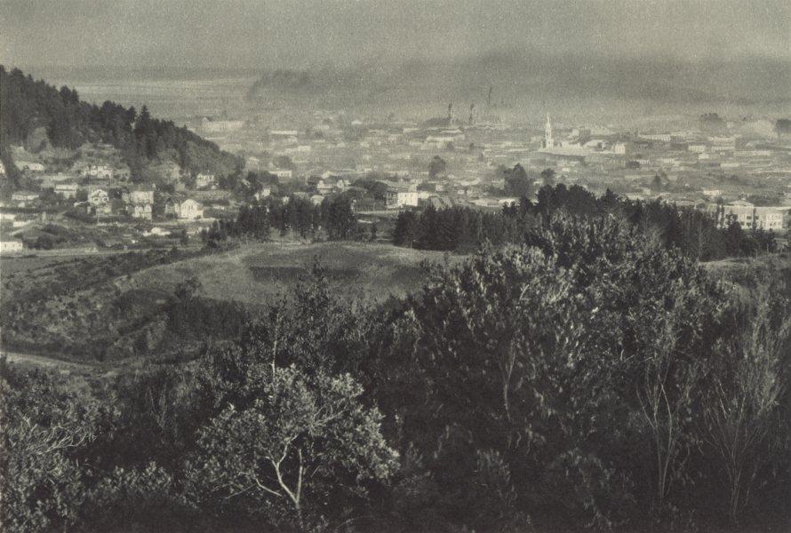 Associate Product CHILE. Concepcion. Vista parcial hacia el Oeste. View to the west 1932 print