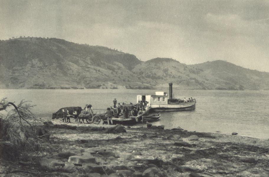 Associate Product CHILE. Laguna Lanalhue. 1932 old vintage print picture