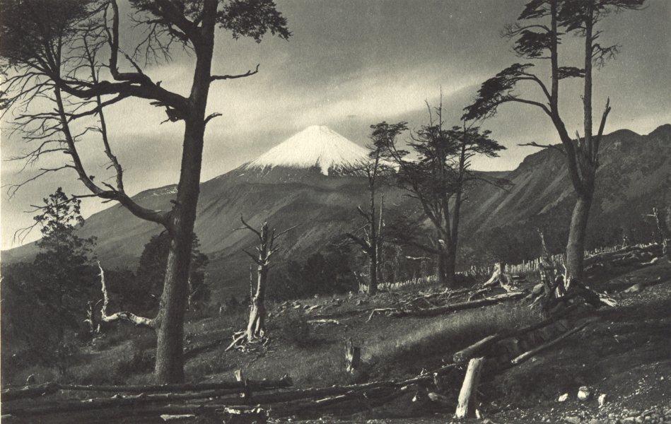 Associate Product CHILE. Volcan Antuco. Vista desde el lado Oeste. Volcano. 1932 old print