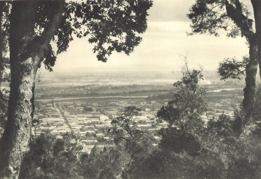 Associate Product CHILE. Temuco. Vista hacia el Sur. Temuco. Southern View 1932 old print
