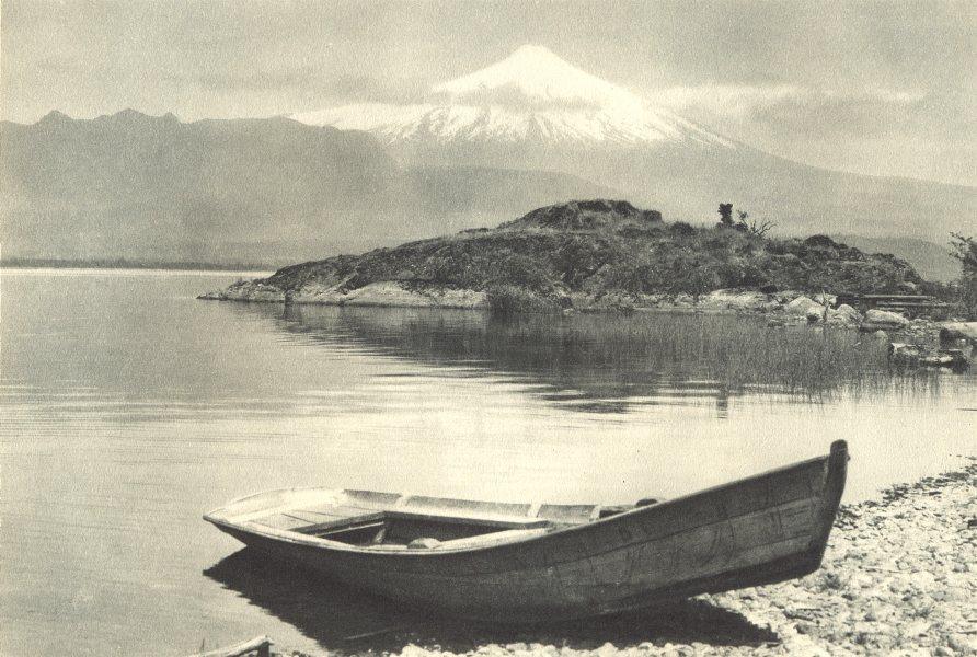 Associate Product CHILE. Lago Villarica. Volcán Villarica. Lake & Volcano Villarica 1932 print