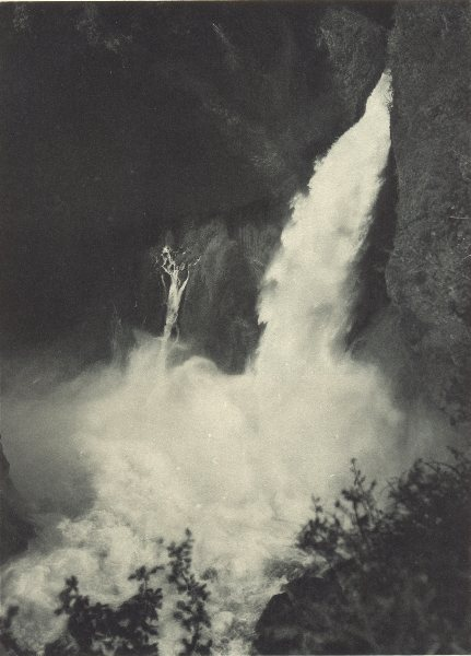 Associate Product CHILE. Rio Hul. Salto Llahuinto. Waterfalls 1932 old vintage print picture