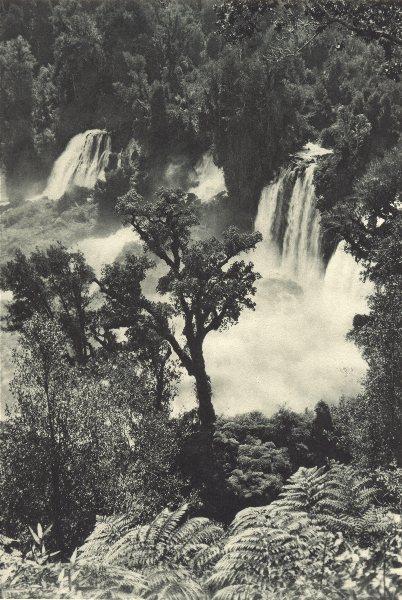 Associate Product CHILE. Salto Pilmaiquén. Pilmaiquen waterfalls 1932 old vintage print picture