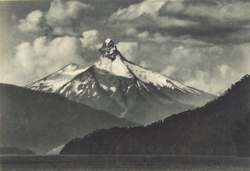 Associate Product CHILE.Volcan Puntiagudo(Lago Todos los Santos)desde Cayutué.Volcano Cayutue 1932