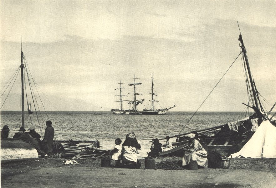 CHILE. Puerto Montt. 1932 old vintage print picture