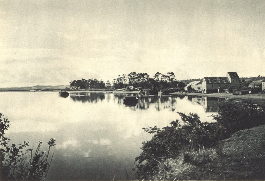 CHILE. Rio Pudeto (Chiloé) . Chiloe 1932 old vintage print picture