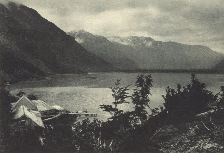 Associate Product CHILEAN PATAGONIA. Rio Baker (Aysen) . Desembocadura del Rio. 1932 old print