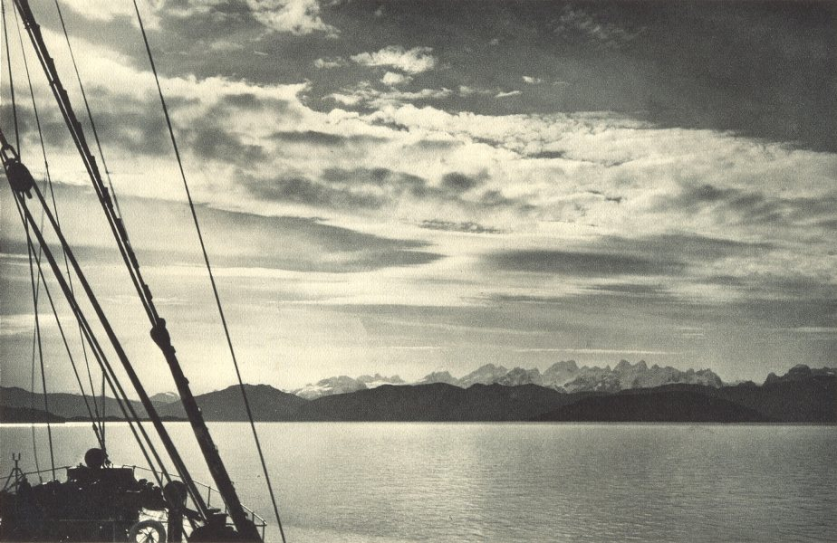 Associate Product CHILEAN PATAGONIA. Estrecho Collingwood. Collingwood Strait 1932 old print