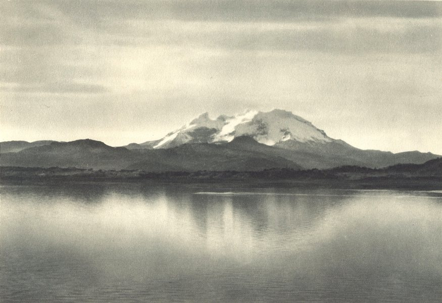 Associate Product CHILEAN PATAGONIA. Monte Burney (Canal Wide, Wide Channel) 1932 old print