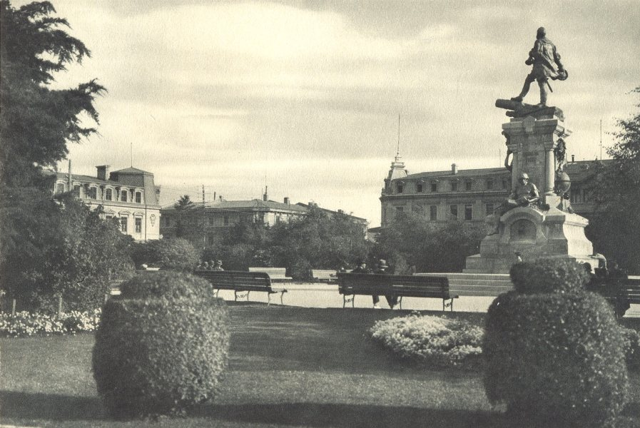 Associate Product CHILEAN PATAGONIA. Magallanes. Plaza. Square 1932 old vintage print picture