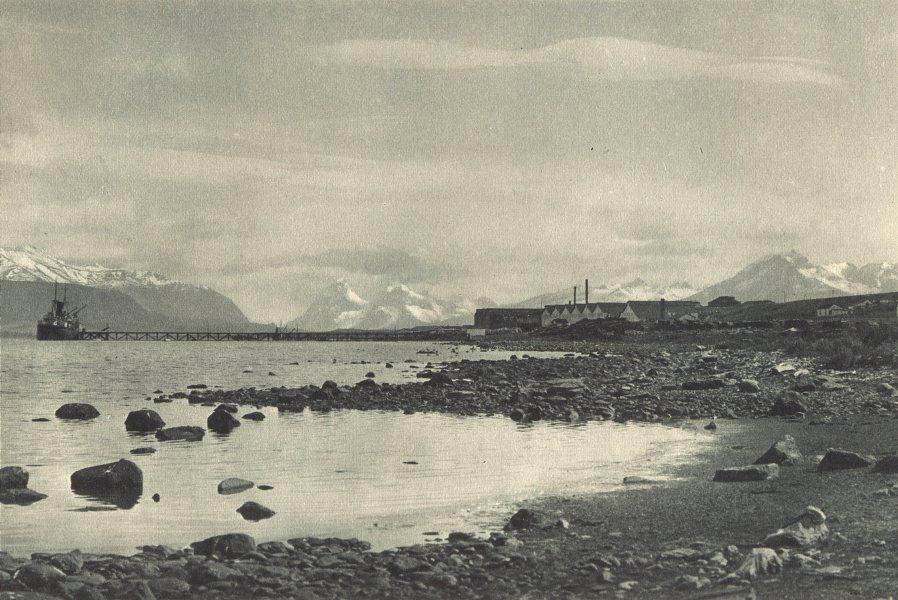 Associate Product CHILEAN PATAGONIA. Puerto Bories (Ultima Esperanza) . Frigorífico. 1932 print