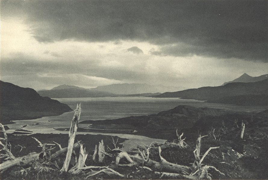 CHILEAN PATAGONIA. Lago del Toro. Desembocadura del Rio Paine 1932 old print