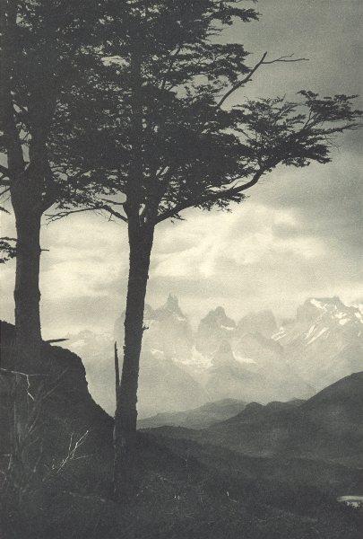 Associate Product CHILEAN PATAGONIA. Cordillera Paine. Torres del Paine 1932 old vintage print