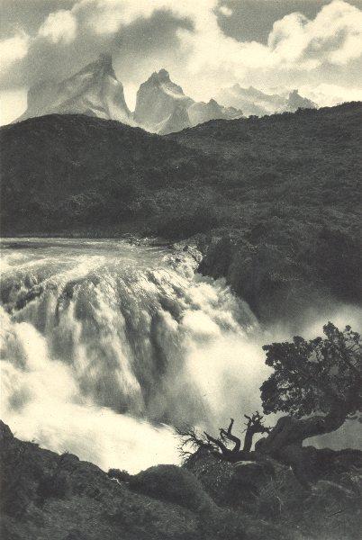 Associate Product CHILEAN PATAGONIA. Salto Grande del Rio Paine. Waterfalls 1932 old print