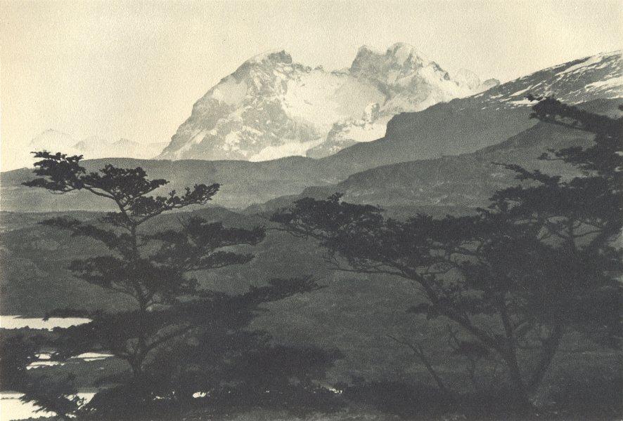 Associate Product CHILEAN PATAGONIA. Cerro Balmaceda. 1932 old vintage print picture