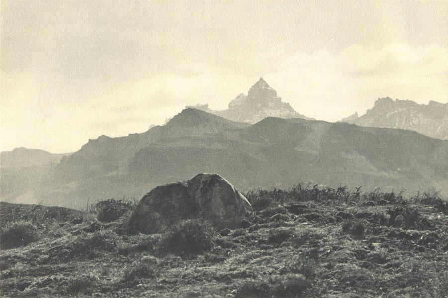 Associate Product CHILEAN PATAGONIA. Cordillera Baguales. Cerro Pináculo Pinaculo 1932 old print