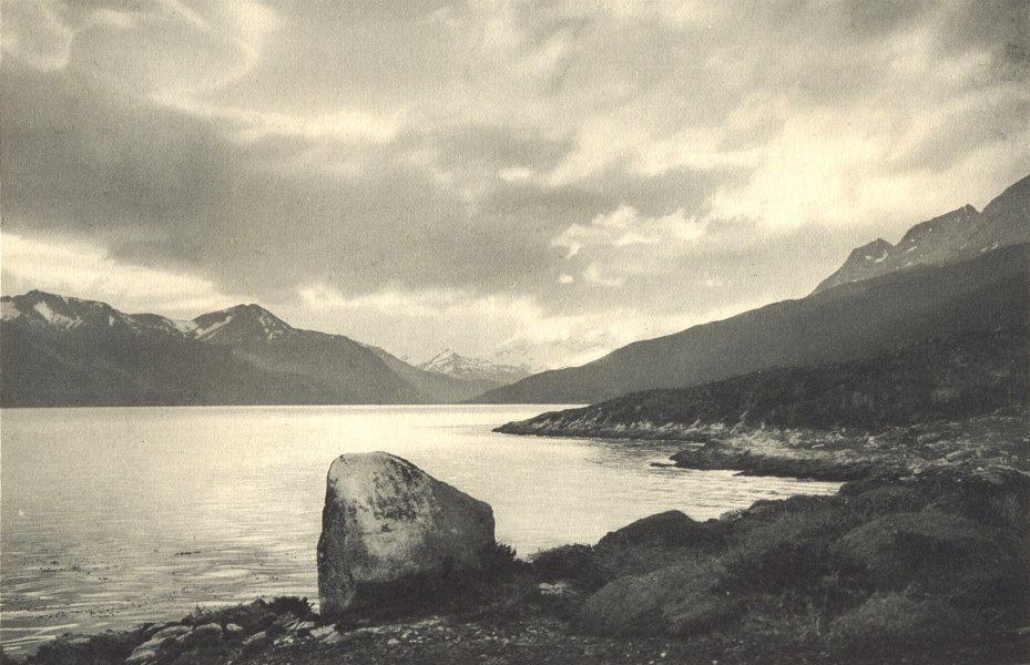 Associate Product CHILEAN PATAGONIA. Yendegaya (Tierra del Fuego) 1932 old vintage print picture