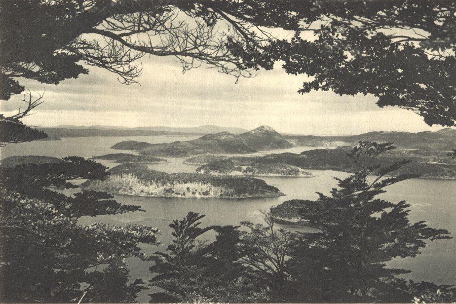 Associate Product CHILEAN PATAGONIA. Isla Bertrand. Islas australes. Tierra del Fuego 1932 print