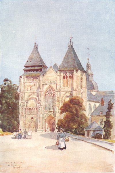 SARTHE. Notre Dame de la Coutûre. Le Mans 1907 old antique print picture