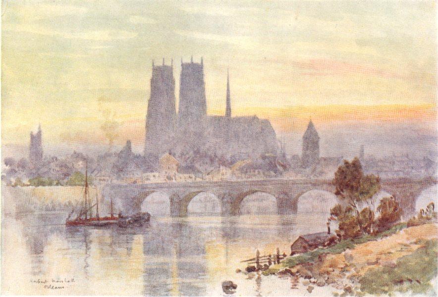 Associate Product LOIRET. Orleans. Bridge. Boats. River 1907 old antique vintage print picture