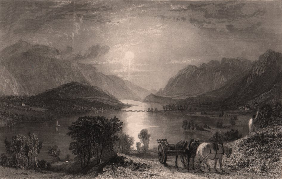 Associate Product LAKE DISTRICT. Thirlmere & Helvellen &c. from Raven Crag. Cumbria. ALLOM 1839