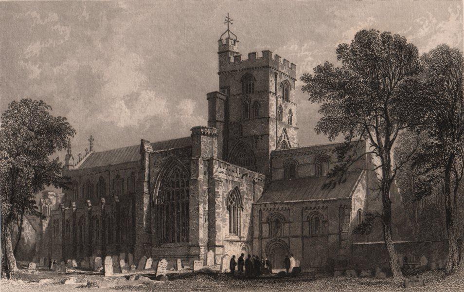 Associate Product CUMBRIA. Carlisle Cathedral, Cumberland. ALLOM 1839 old antique print picture