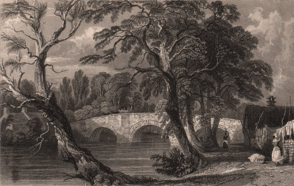 Associate Product LAKE DISTRICT. Eamont Bridge, from the Westmoreland Side. Cumbria. ALLOM 1839