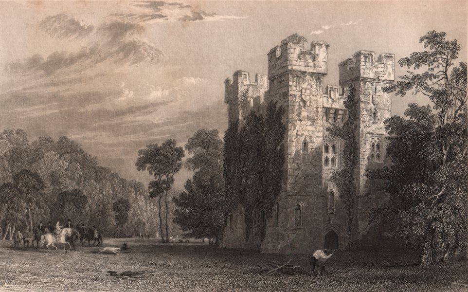 Associate Product NORTHUMBERLAND. Alnwick Abbey. ALLOM 1839 old antique vintage print picture