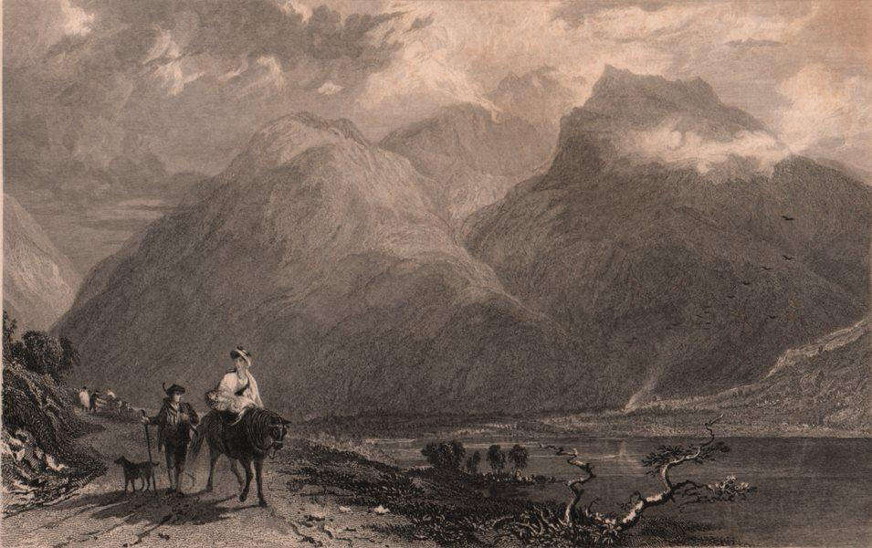 Associate Product LAKE DISTRICT. Wasdale Head-Scafell Pike, Cumberland. Cumbria. ALLOM 1839